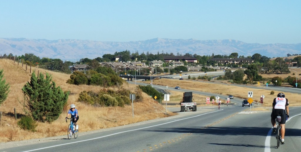"Descending Sand Hill Road into Menlo Park, part of ""The Loop"""