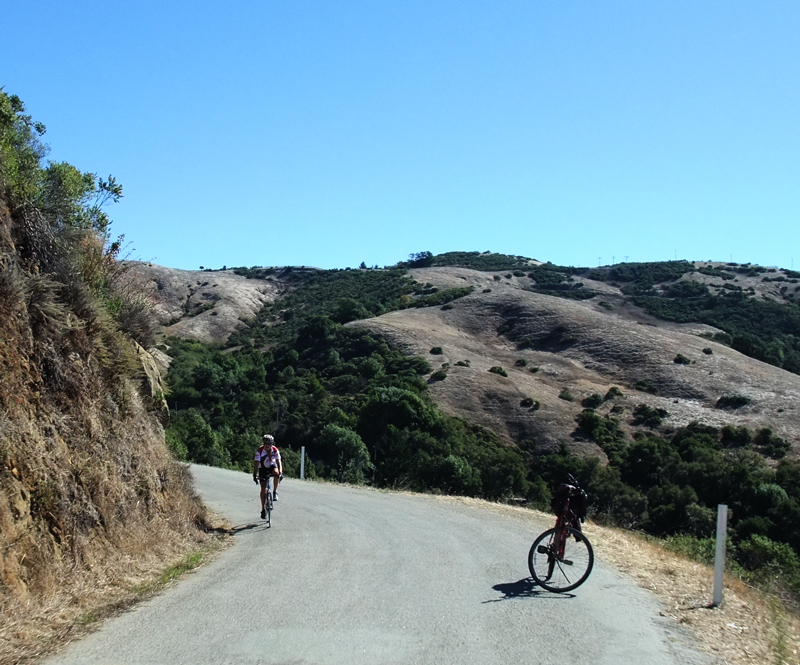 West side Old LaHonda, where rattlesnakes live and cyclists admire the view