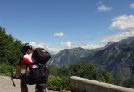 Shortly before reaching Villard Notre Dame, a great view of Alpe d'Huez across the valley.
