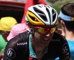 I've always wanted to see my reflection in a guy's glasses. Never have. But my bike made it. Jens Voight no less!