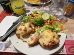 A bacon scone. Who knew? Great and inexpensive dinner in Azay le Rideau.
