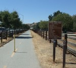 Mile 0, the start of the Coyote Creek Bike Trail in Morgan Hill.