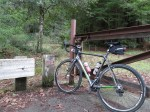 A relatively-clean bike at the start of Old Haul Road