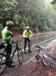 First flat, descending 84. 37 degrees, raining pretty hard. Not fun!