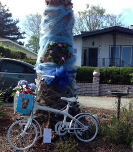 "Leyla Beban's ""Ghost Bike"" relocated away from the intersection"
