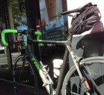 My bike seems very happy at Peet's after the morning ride
