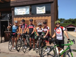 The group in front of the Pescadero Bakery