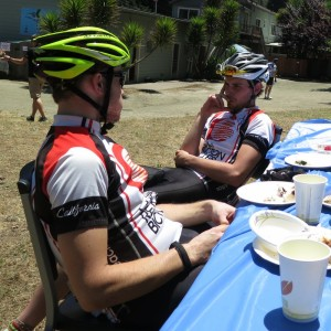 Andrew & Kevin strategizing the attack on the next section of the ride