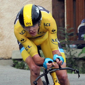 Chris Froome on his way to winning the Tour de France's second individual time trial