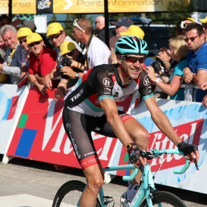 Jens Voigt finishes with a big smile.