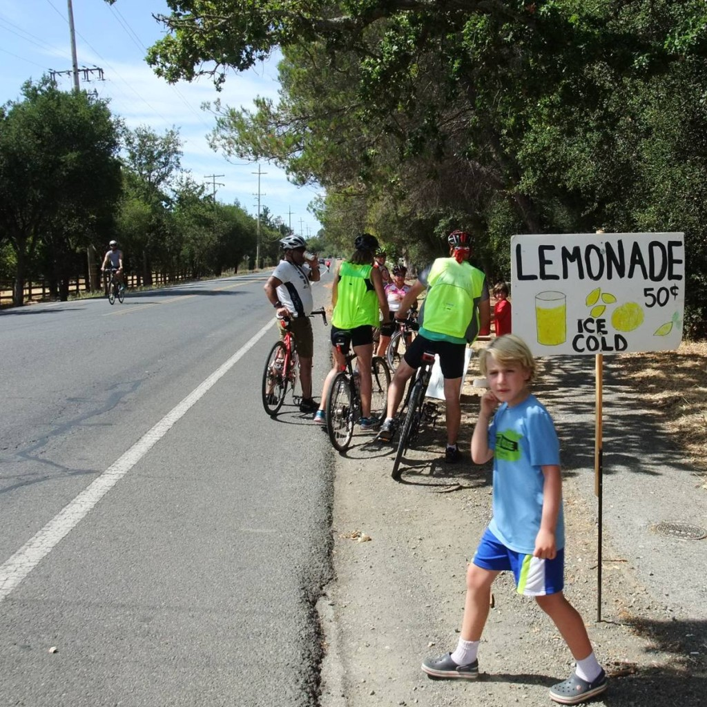 But what they're really doing is selling Lemonade at $.50/cup. These guys have it figured out!