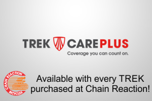 Trek Care Plus is available at Chain Reaction Bicycles starting September 3, 2013