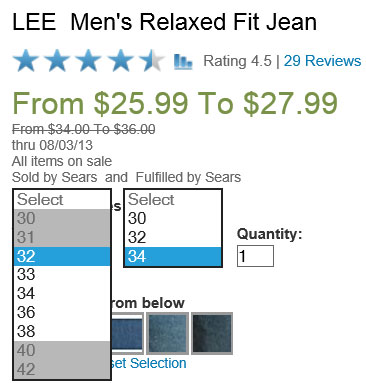 Even something as simple as jeans aren't described by a single size designation. People just don't come in SM/MD/LG/XL sizing.