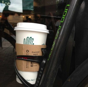 Trek's OCLV Carbon coffee cup transport. Everybody needs one!