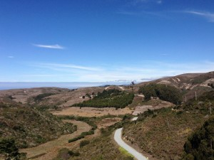 The view from the first hill (Pescadero side) of Stage Road.