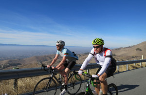 Andrew & Kevin on the lower flanks of Mt Hamilton